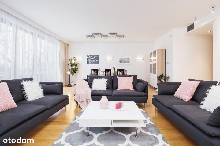 Apartament 89m2 nad Wisłą 85m2 ogródek!