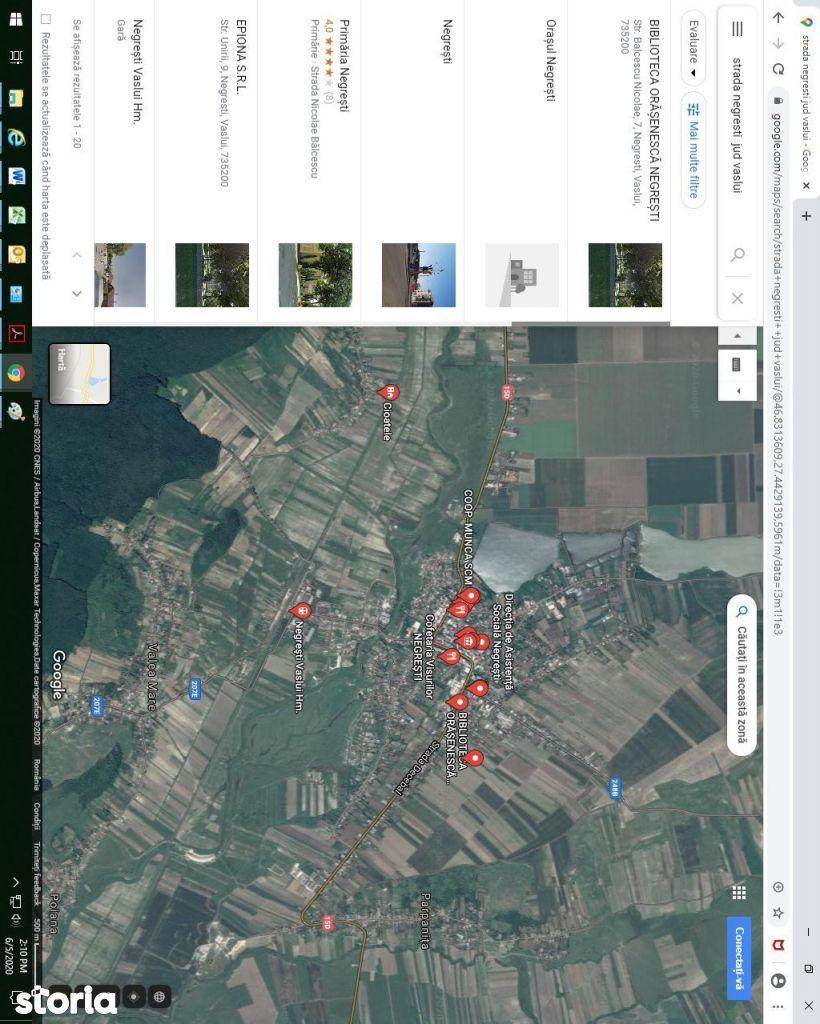 Teren in suprafata de 10.340,96 mp situat in orasul Negresti