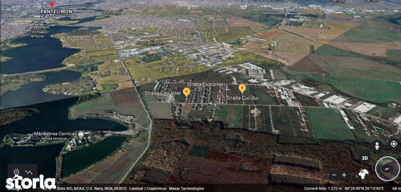 Teren intravilan 552 mp Strada Cucului, Pantelimon, Cernica