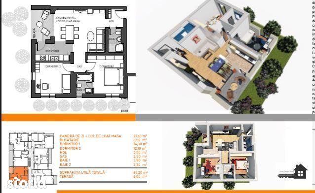 Girocului, Apartament 3 camere, Bloc Nou