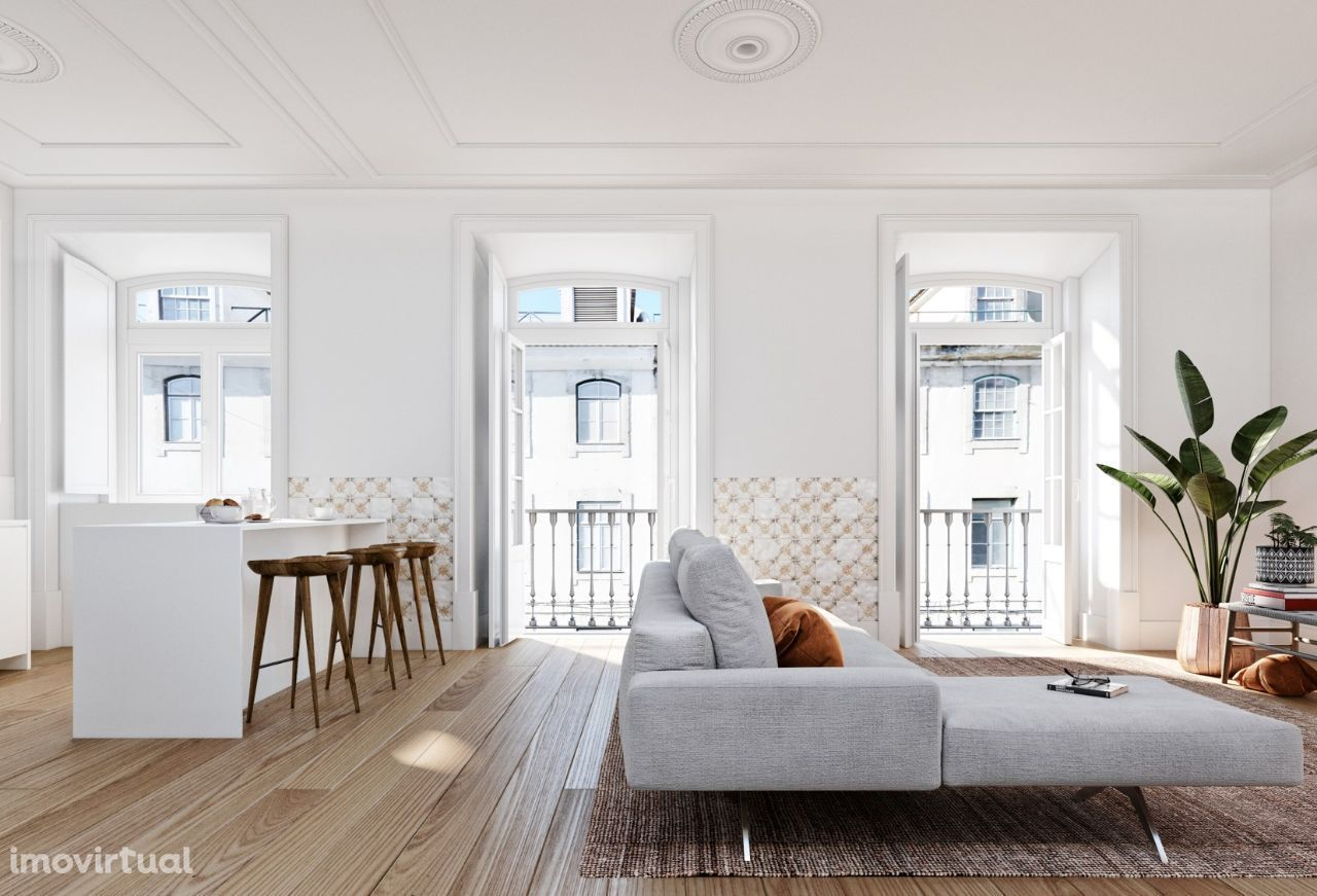 The new traditional T2+1 Apartment at Lisbon downtown
