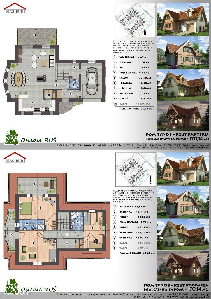 Dom Typ O3 - powierzchnia 170 m2