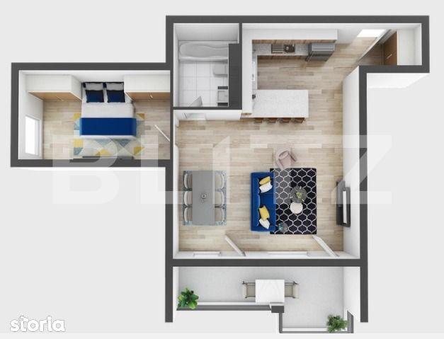 2 camere, 63 mp utili, 11 mp terasa, preturi incepand de la 1330 euro!