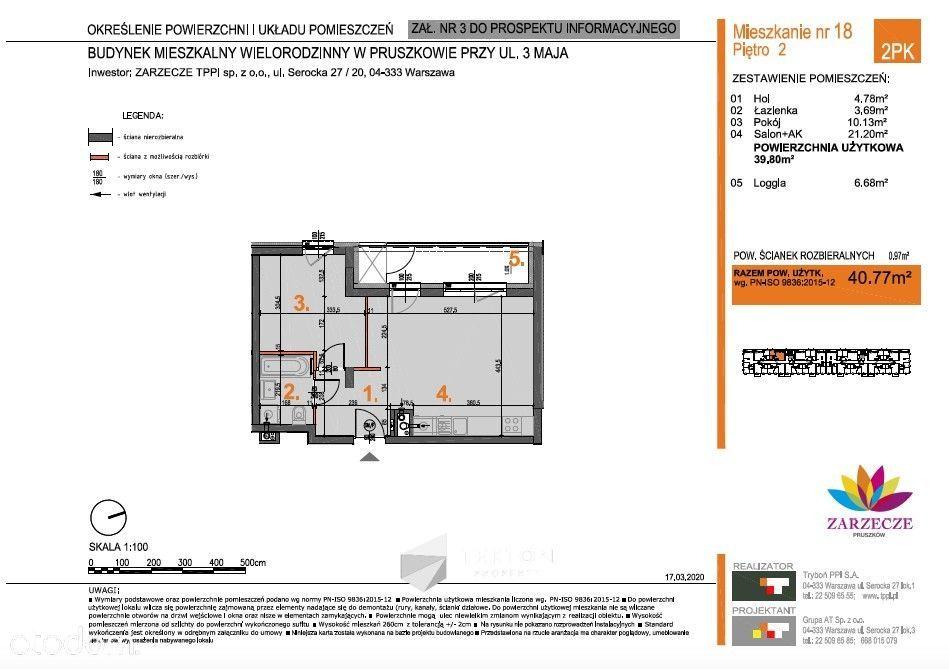 Zarzecze - 40,77 m2, kom. lok, 2 miejsca postojowe