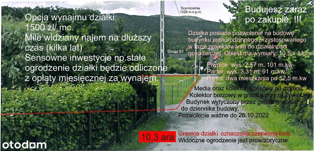 Działka mieszkaniowo-usługowa przy ul. Żywieckiej