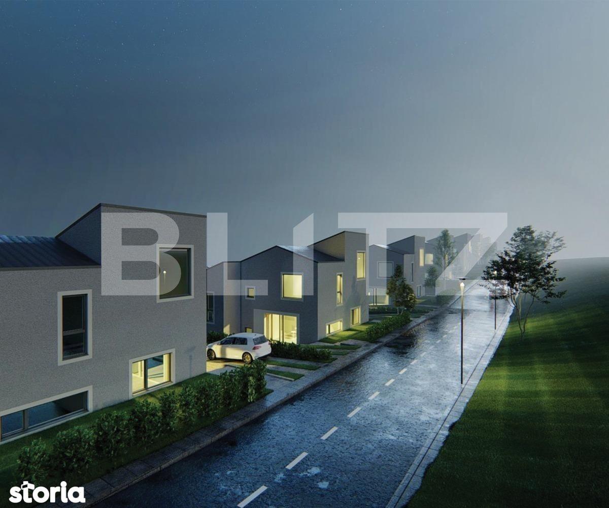 Exclusiv! Casa cuplata 110 mp utili, teren 250 mp, calitate premium