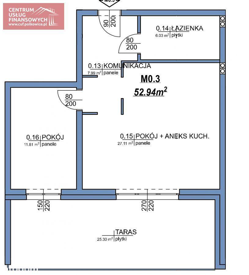 Nowe budownictwo 53,27 m2, Wołodyjowskiego, Polk