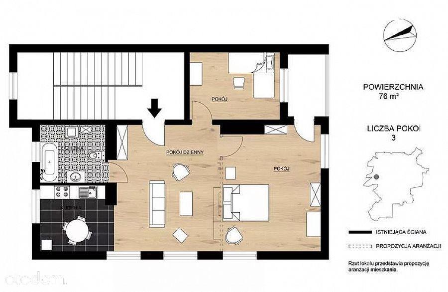 Bezczynszowe mieszkanie - piętro w domu wielorodzi