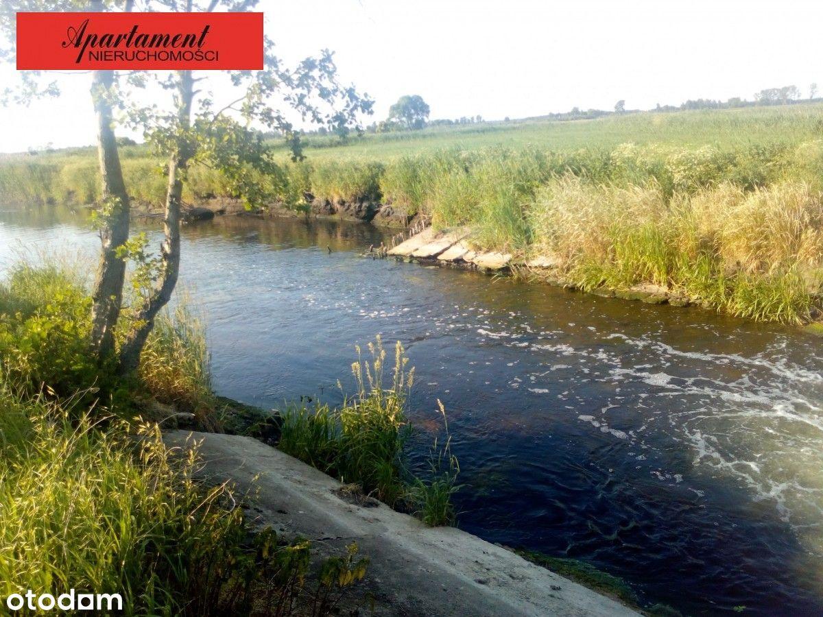 Działka z linią brzegową rzeki - okolice Rynarzewa