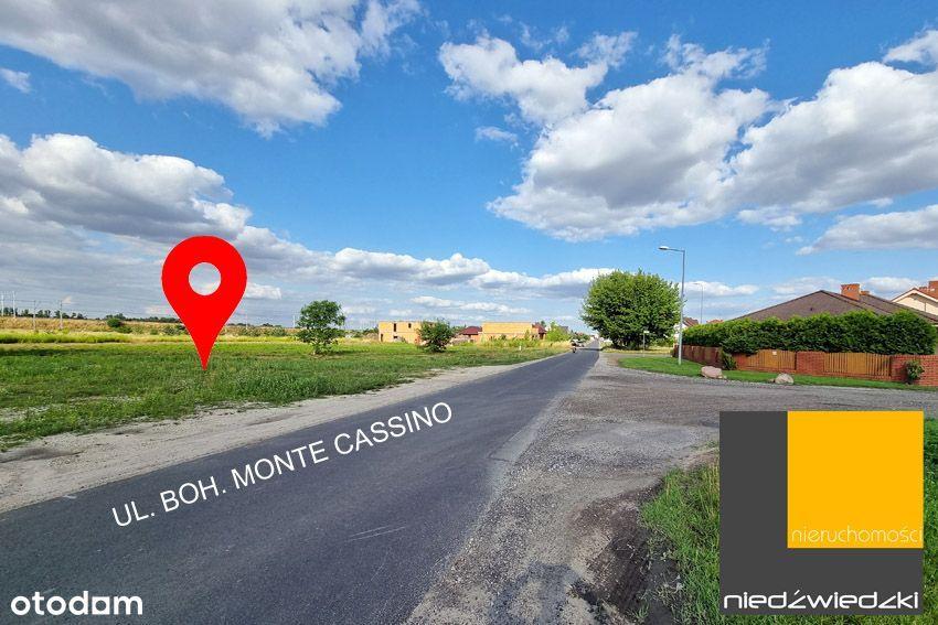 Działka w samej Września ul. Boh. Monte Cassino
