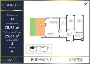 Osielsko 4 pokoje z tarasem i ogródkiem 78 m2