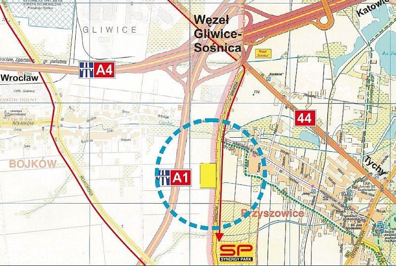A4. A1, Węzeł Sośnica, Synergy Park