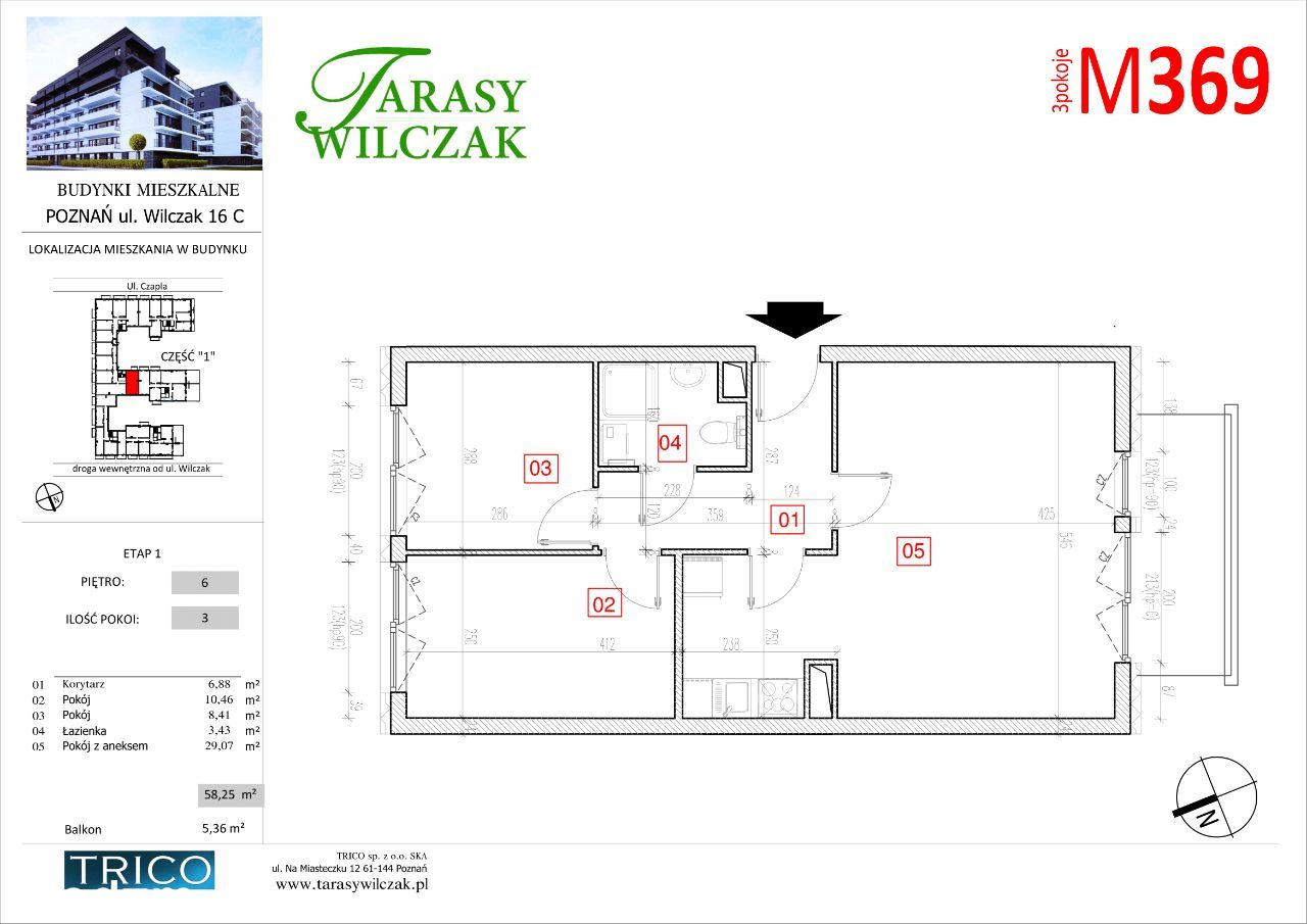 Tarasy Wilczak mieszkanie nr 369
