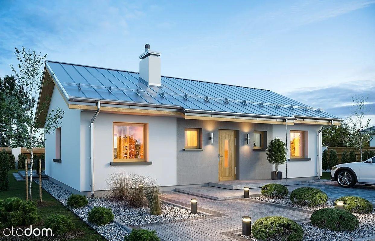 Dom energooszczędny parterowy 75m2, 3 sypialnie