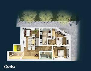 Apartament 3 camere, 75.62 mp, semifinisat, zona Centrala