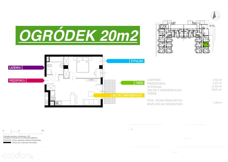 2 Pokoje+Ogródek 20m2/Nowe od Dewelopera-0%