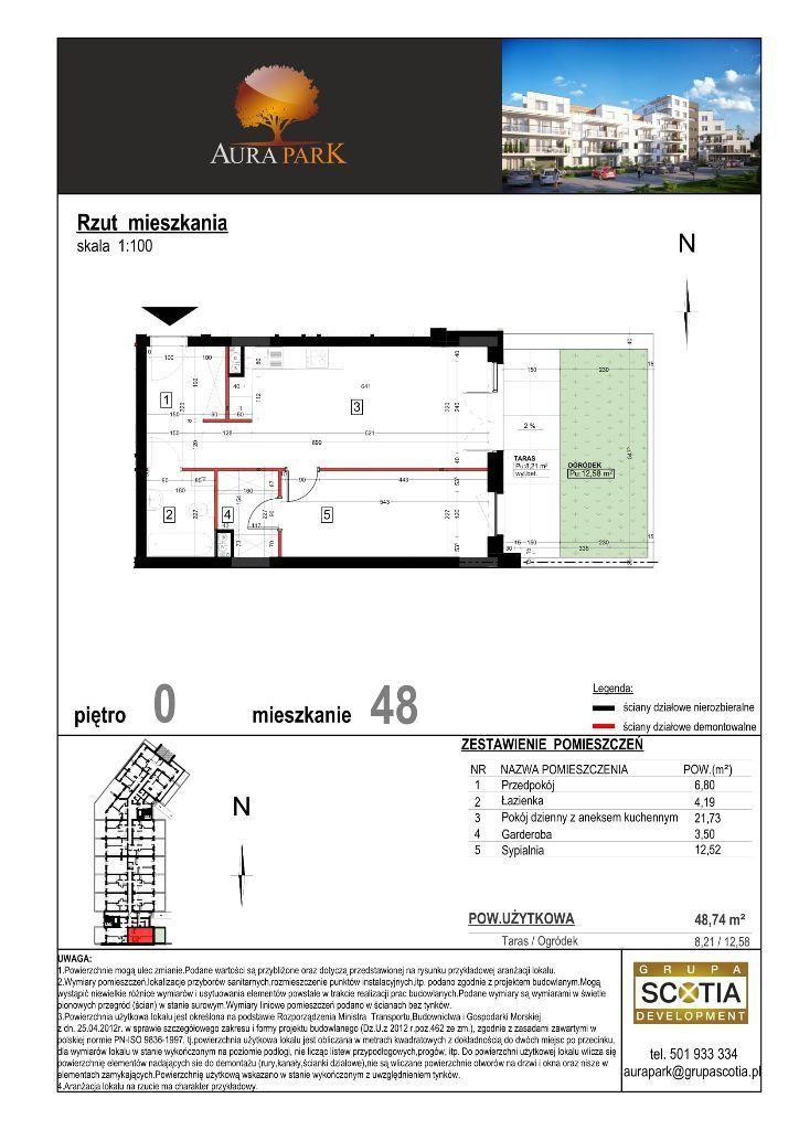 2 pokoje + aneks kuchenny - Aura Park Płońsk