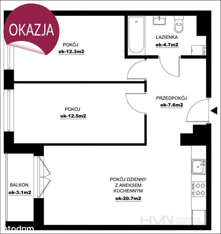 3 pokoje z balkonem, Lipska, Bezpośrednio