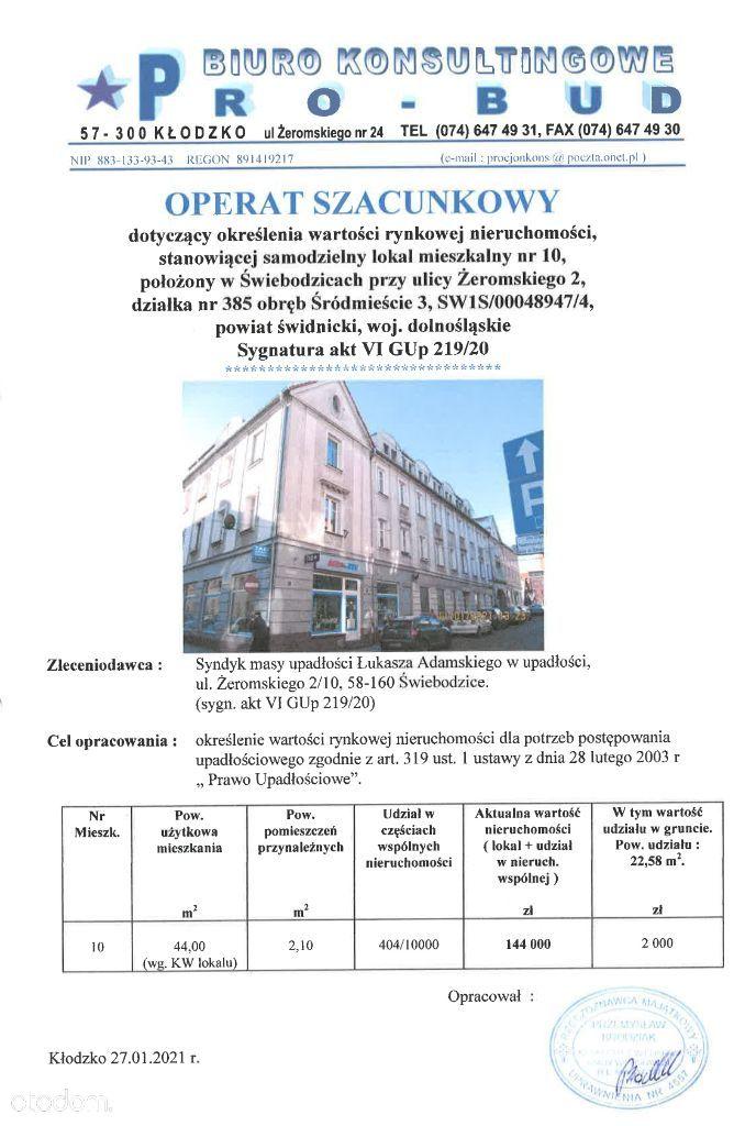Syndyk sprzeda mieszkanie w Świebodzicach, Żeromsk