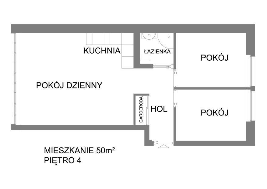 Mieszkanie 3 pokoje centrum miasta! Warto!