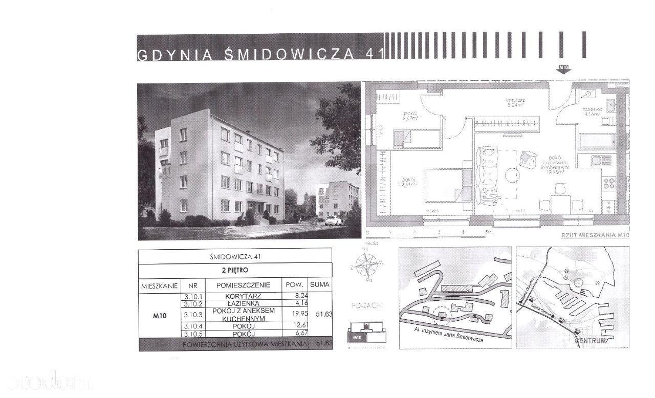 3 pokoje 51,63m2 przy BTC i Akademii MW Gdynia