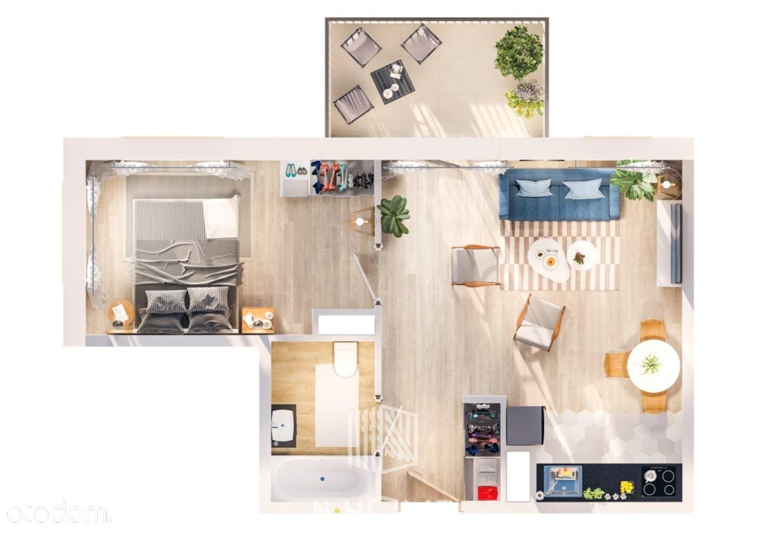 Komfortowe M2 z balkonem | Super dojazd do centrum