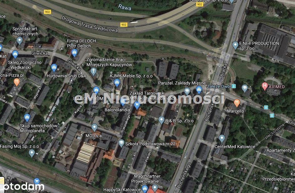 Działka, 833 m², Katowice
