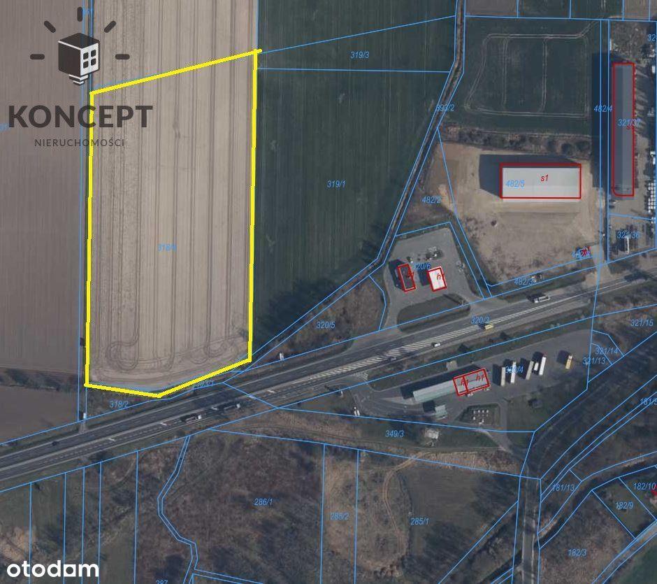Działka przemysłowa pod Oleśnicą | przy S8 | media