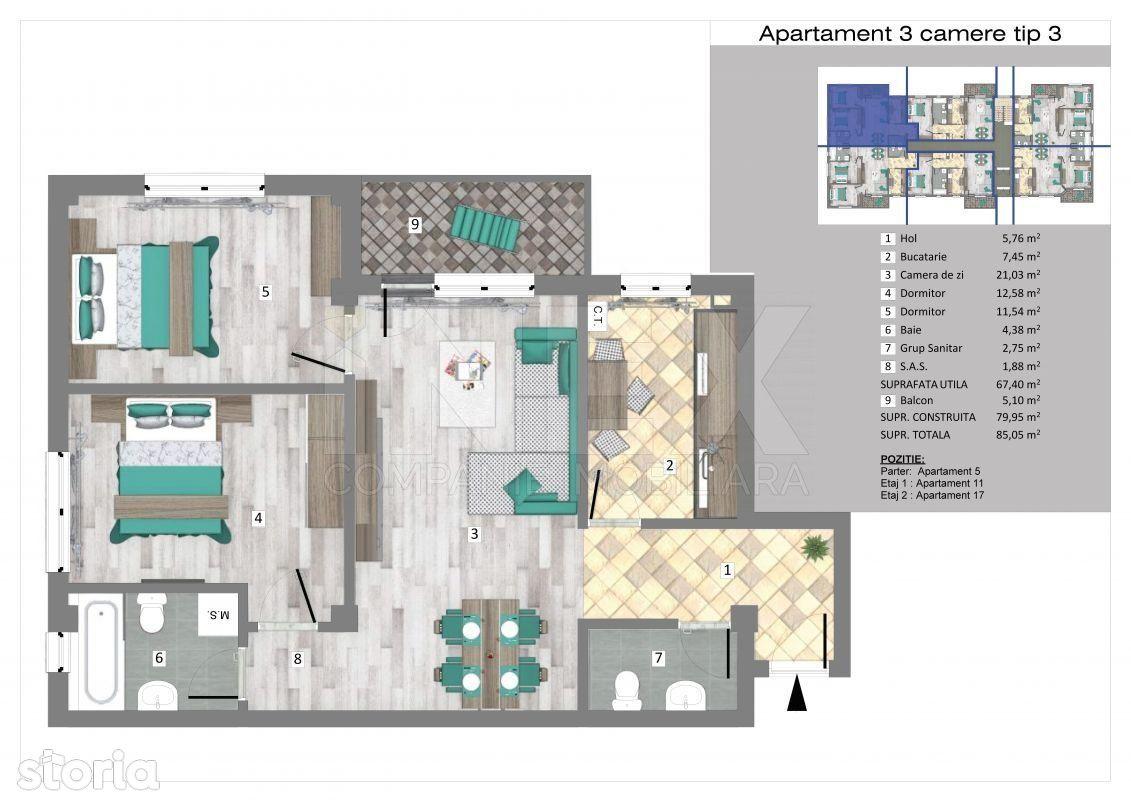 iNEX.ro   Apartamente 3 camere in Trivale Park   3C3