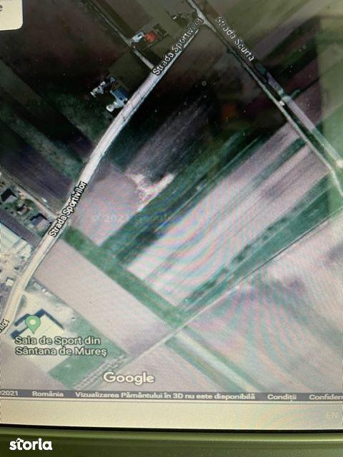 De vanzare 2 parcele, 2600, resp. 2800 m2, Santana, zona Sala de sport