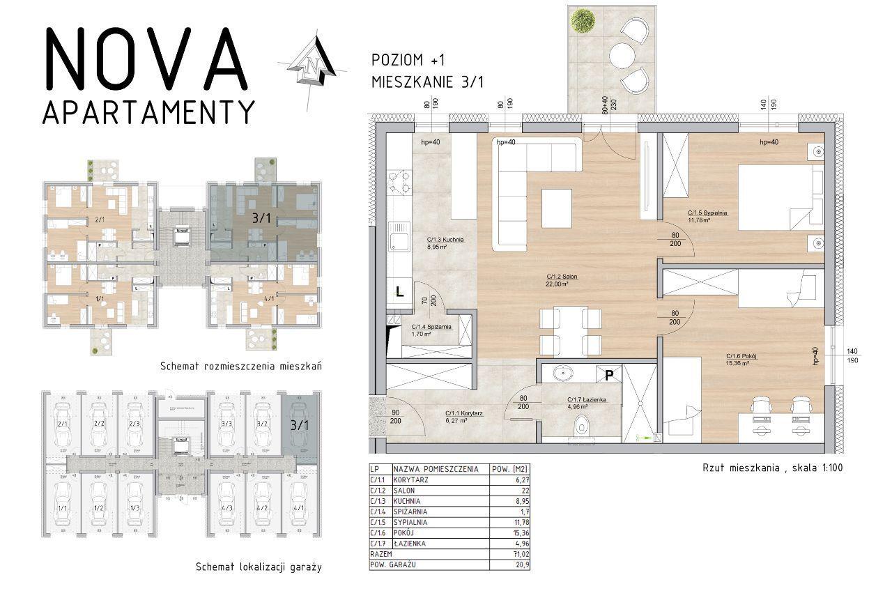 Przestronne Mieszkanie Nova Apartamenty M3/1