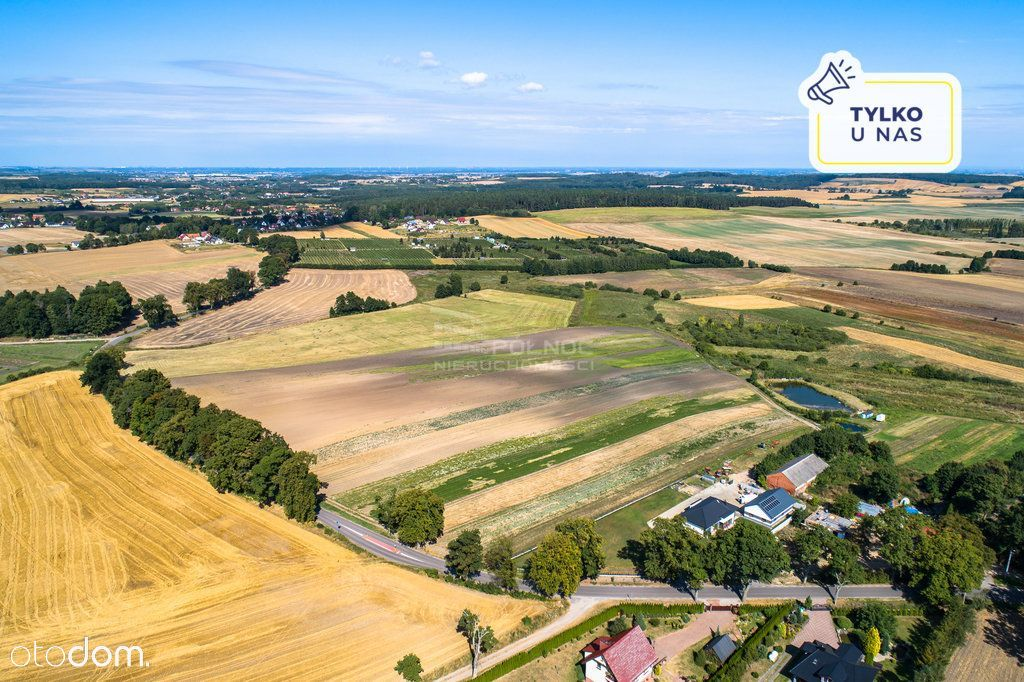 Teren inwestycyjny z widokiem - okolice Pruszcza