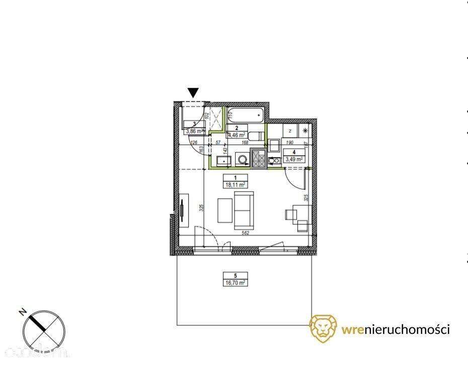 Kawalerka/ogródek/możliwe 2 pokoje