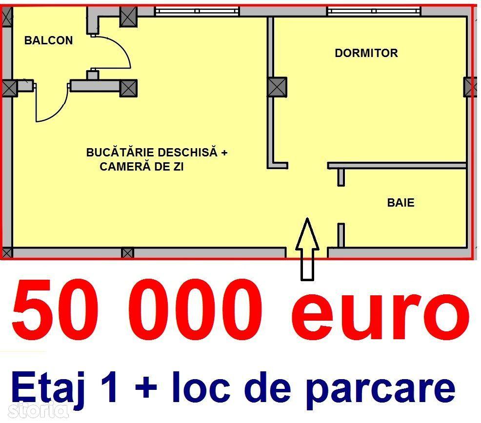 Apartament cu 2 camere etaj 2 + parcare str. Octavian Goga Lild Mall