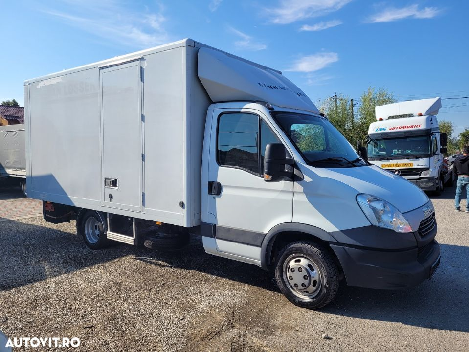 Iveco Daily 35C13 box si lift  AC finantare leasing  an 2014 - 1