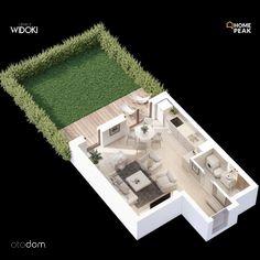 M. 36,23 m2 1Pokój z Ogródkiem 36 m2 Os. Widoki