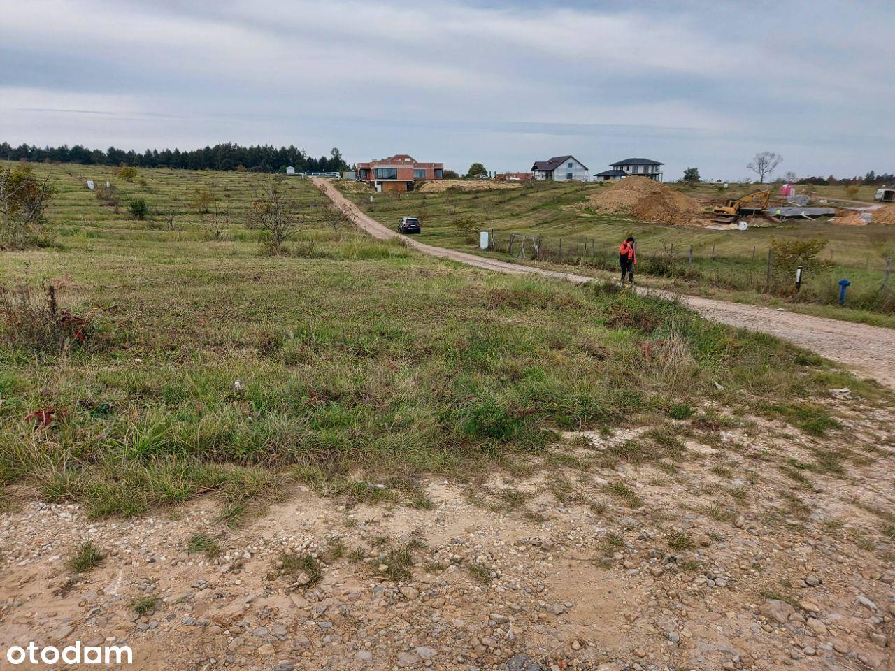 nowa zabudowa osiedle na Buczynie widok na las