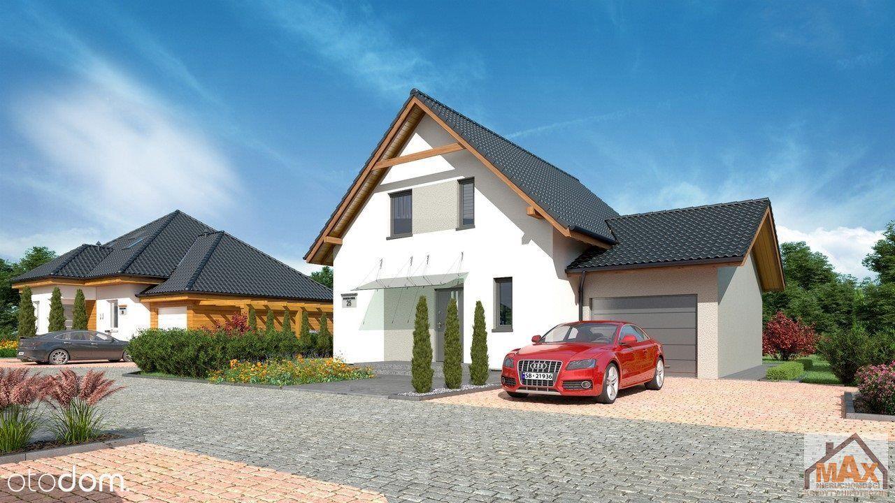 Dom jednorodzinny z użytkowym poddaszem i garażem