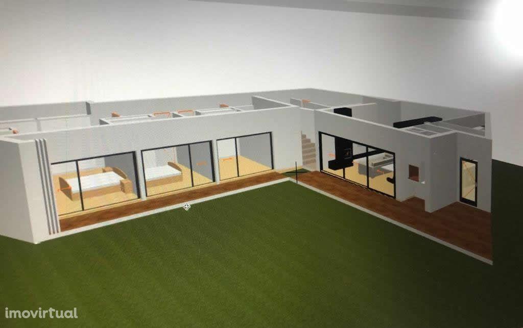 Lote de Terreno c/ Projeto de Arquitetura para Moradia Térrea
