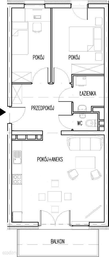 Nowe trzypokojowe mieszkanie