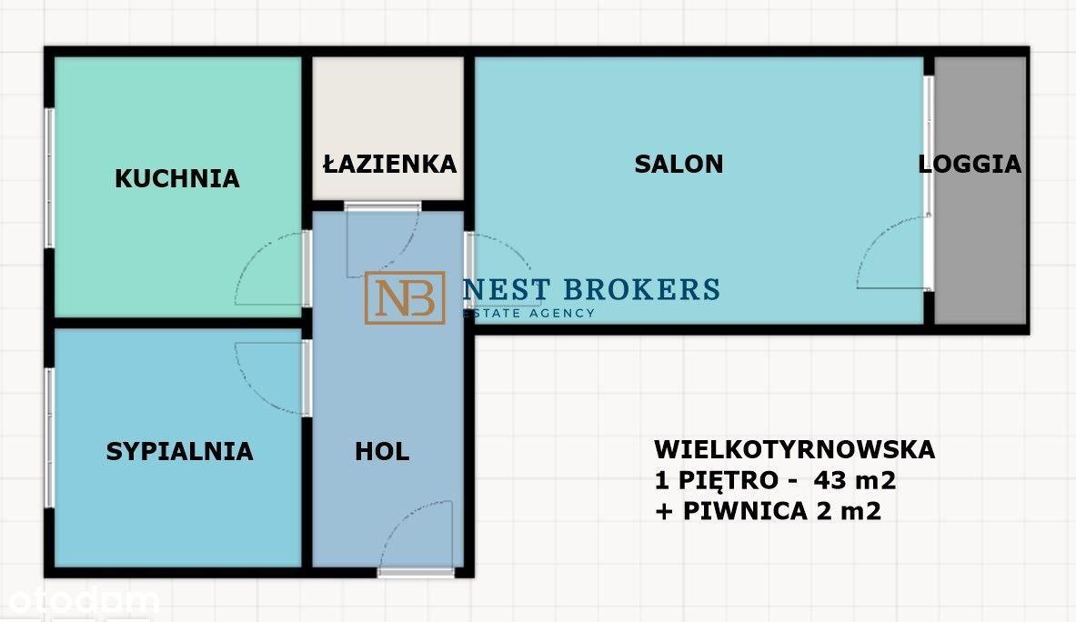 2 pokoje i kuchnia do remontu - Azory + Garaż !