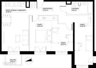 Mieszkanie A51 Harmonia+ Karpia 27