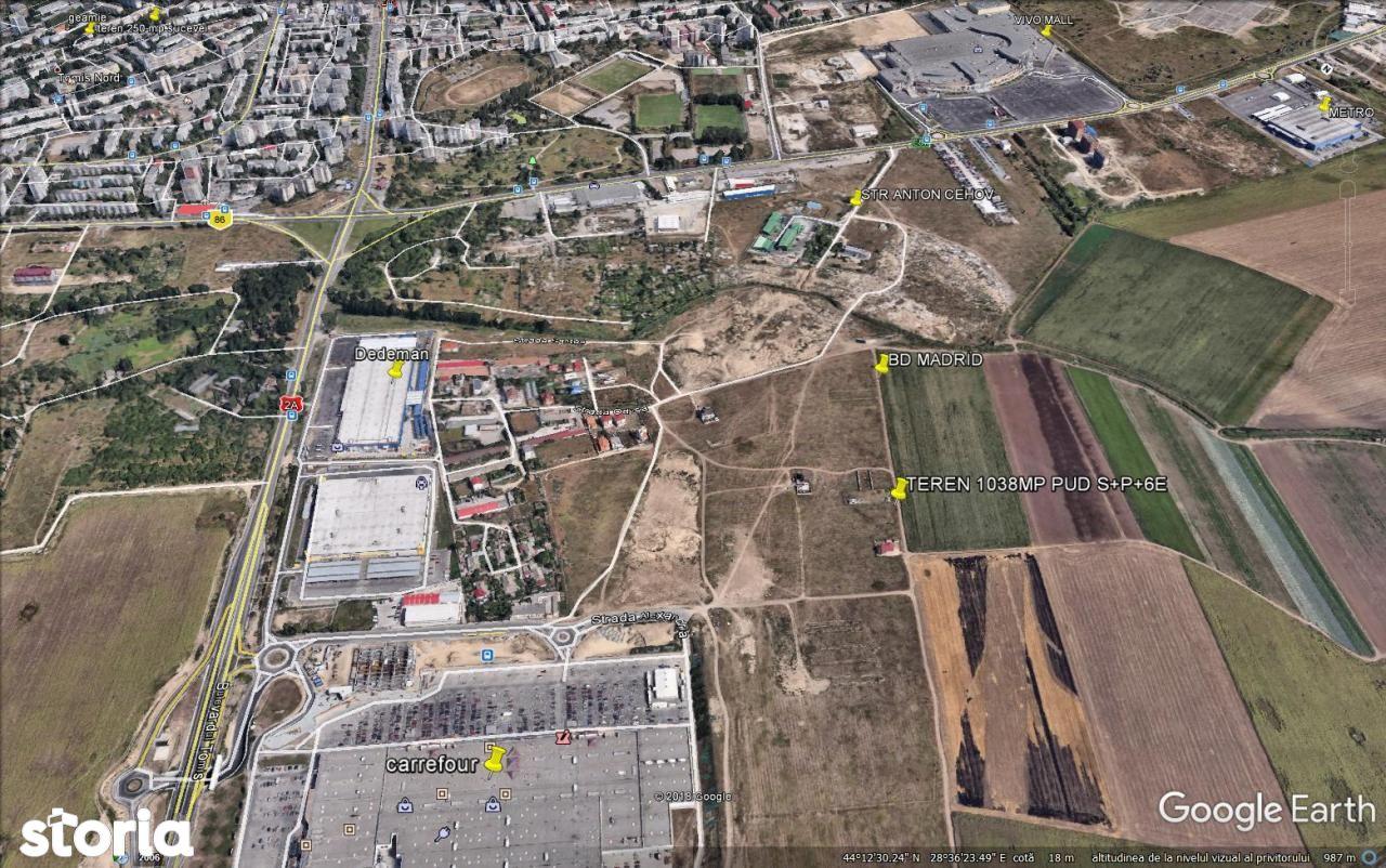 Carrefour- teren 1038 mp, PUD s+p+6e,