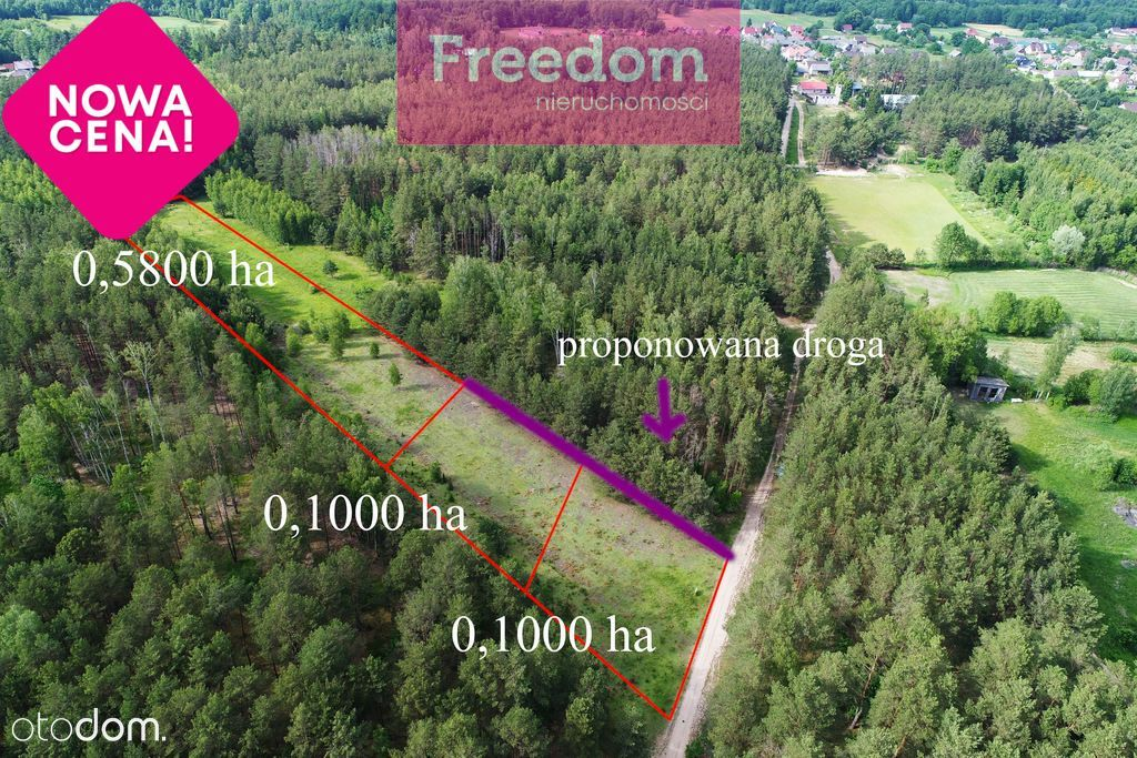 Pańki, gmina Choroszcz, 5800 m2 w cichej okolicy.