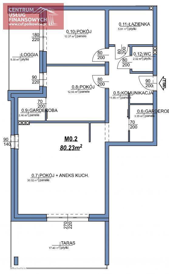 Nowe budownictwo 80,15 m2, Wołodyjowskiego, Polk