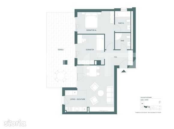 Apartament 3 camere, 73 mp utili, terasa 33 mp