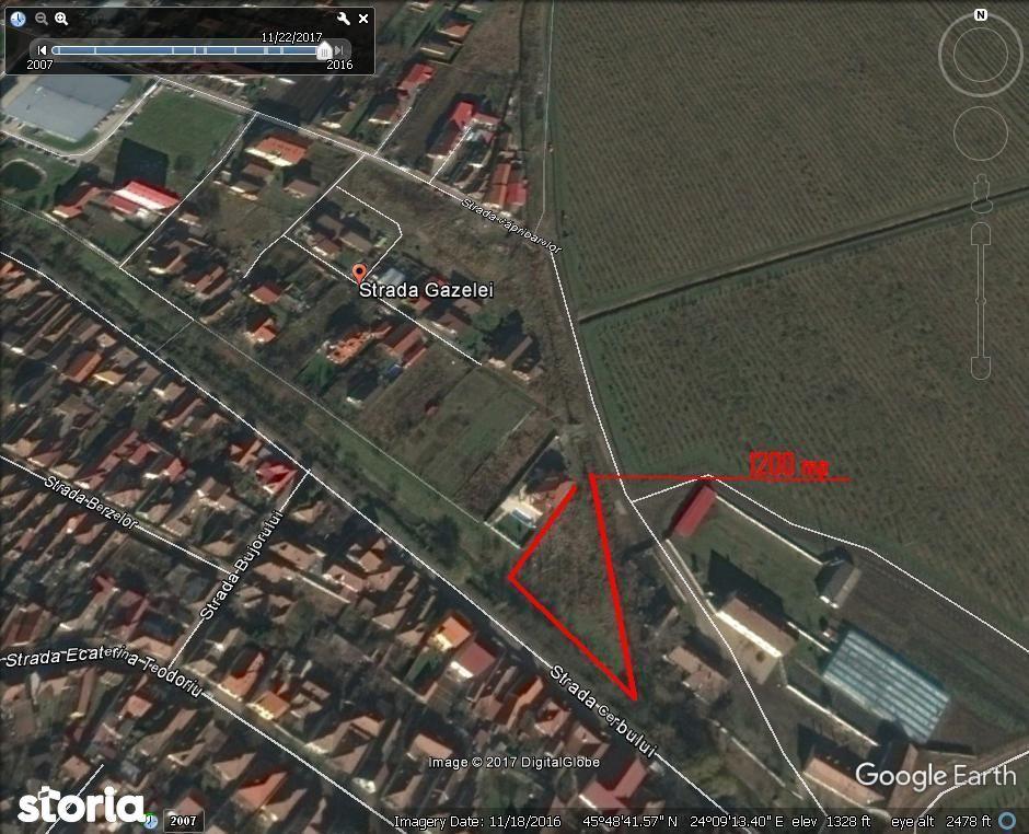 Inchiriez teren in suprafata de 1200 zona Gara Mica - Terezian