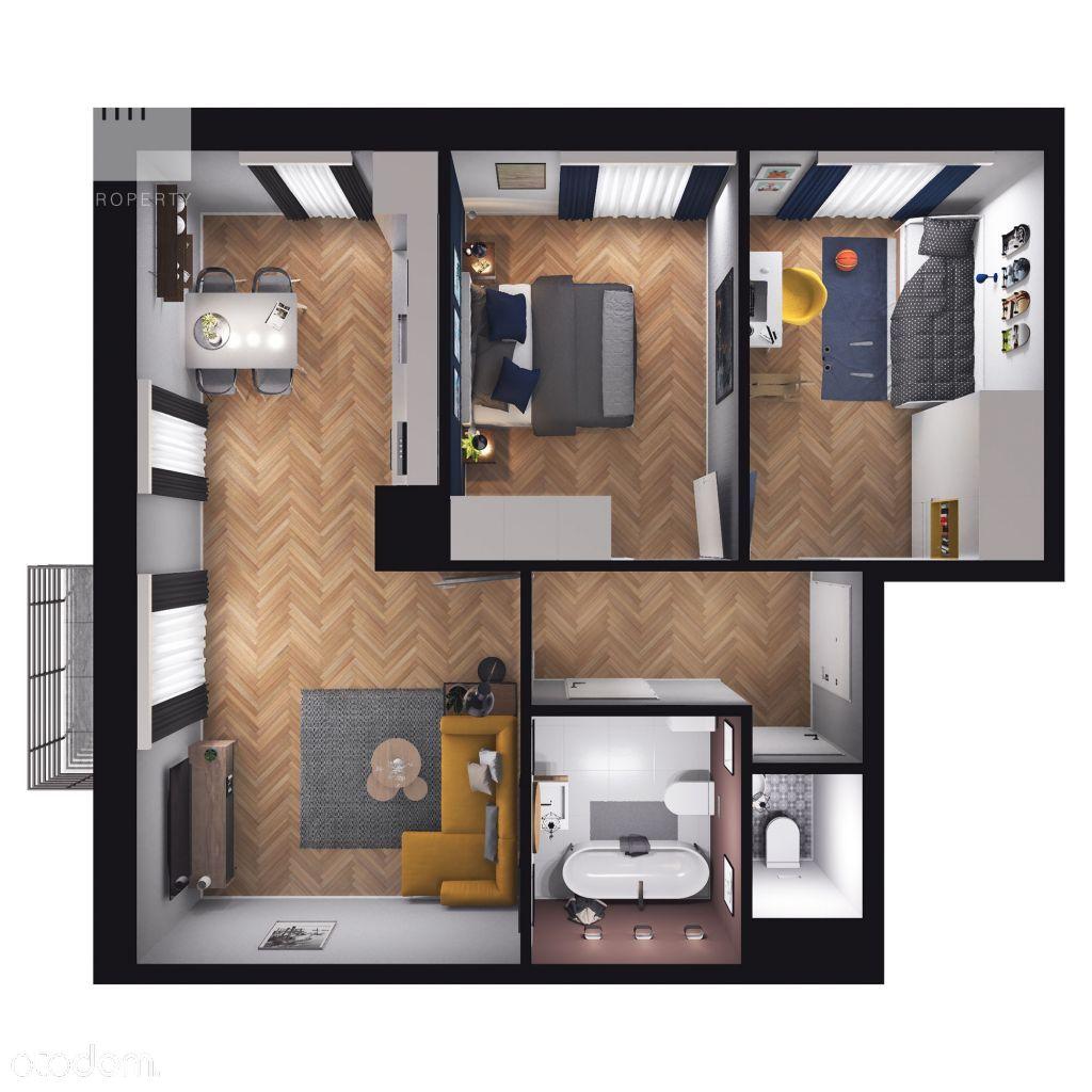 Mieszkanie na sprzedaż, 3 pokoje