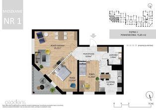 Mieszkanie 71 m2 - I sze piętro