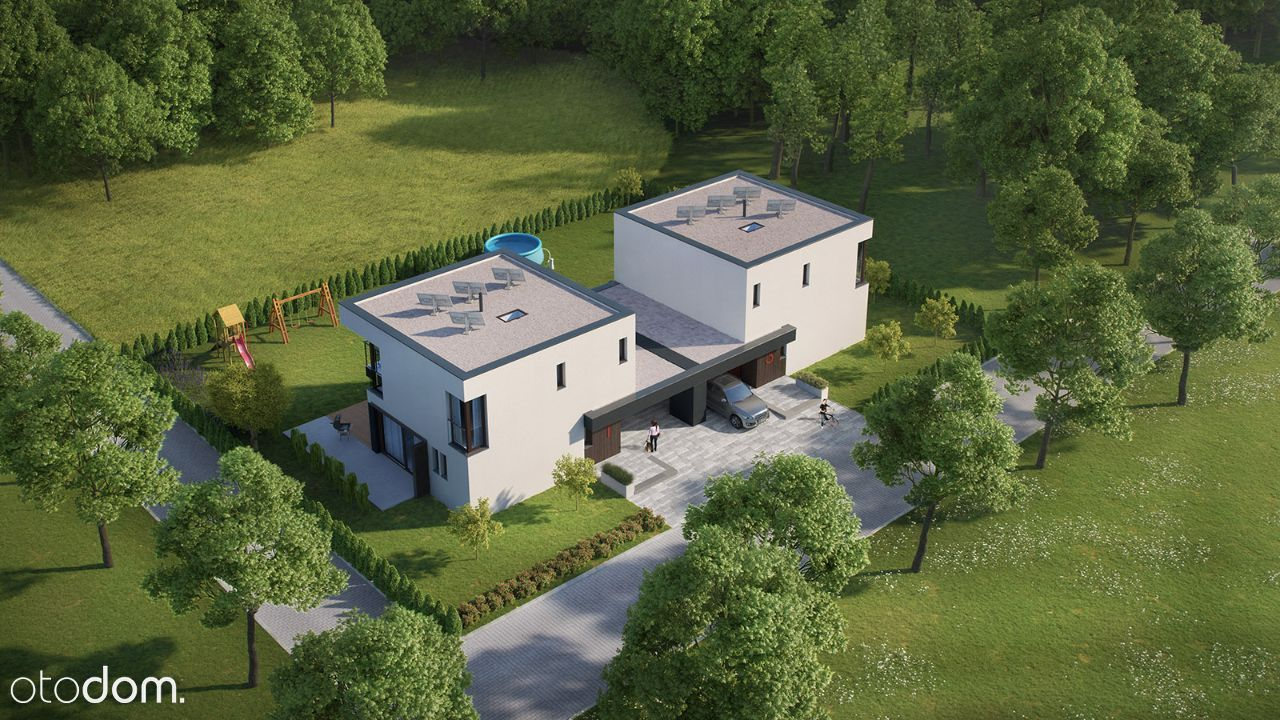 Energooszczędny i komfortowy dom otoczony zielenią